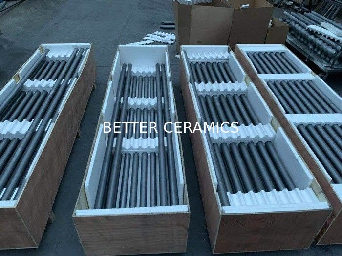 Reaction Boned Silicon Carbide SISIC / RBSIC / SIC Circular Pipe For Kilns